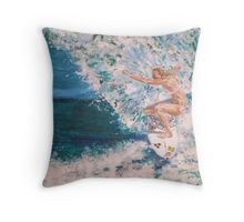 Girls are Bad Ass Surfers Too Throw Pillow