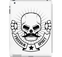 skull with a mustache iPad Case/Skin