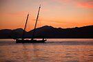 Sunset over Lake Garda by imagic