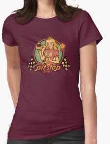 Peach's Pit Stop Diner Womens Fitted T-Shirt