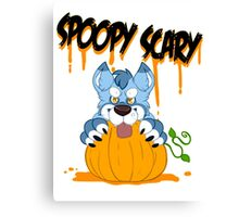 Spoopy Scary Furry Canvas Print