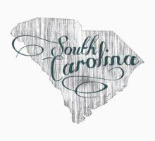South Carolina State Typography Baby Tee