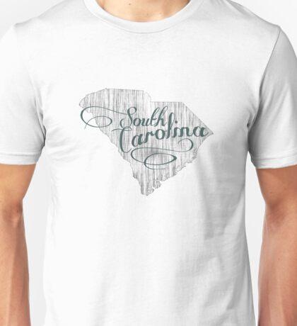 South Carolina State Typography Unisex T-Shirt