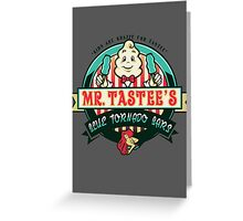 Mr. Tastee's Blue Tornado Bars Greeting Card