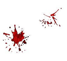 Blood Splatter Photographic Print