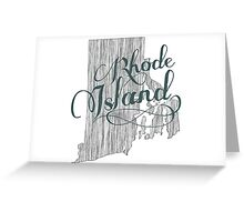 Rhode Island State Typography Greeting Card