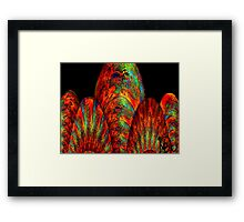 Fans of Fractals-Silk print Framed Print