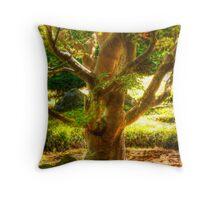 Buddha Tree Throw Pillow