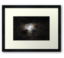 Green Cheese and the Moons Twin Framed Print