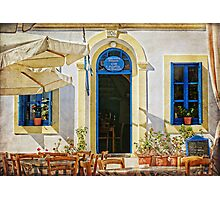 greek cafe Photographic Print