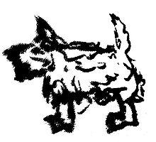 Piston the Dog - Terrier by Adam  Hellicar