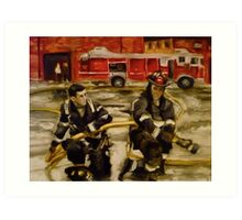 Firemen Art Print