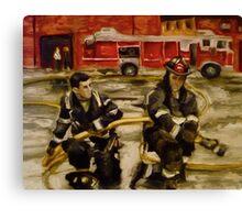 Firemen Canvas Print