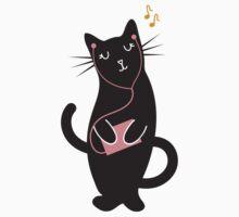 Music Kitty Baby Tee