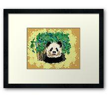 splatter panda  Framed Print