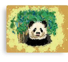 splatter panda  Canvas Print
