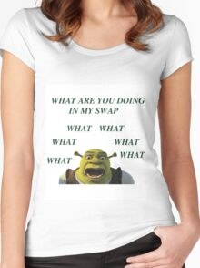 What are you doing in my swamp Women's Fitted Scoop T-Shirt