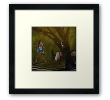 """Come"" said Alice. ""There is rabbit for dinner"" Framed Print"