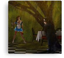 """Come"" said Alice. ""There is rabbit for dinner"" Canvas Print"