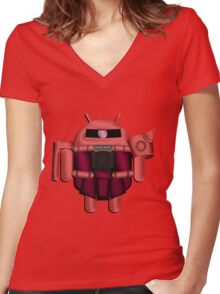 ZAKDROID-II Women's Fitted V-Neck T-Shirt