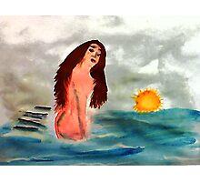 Grace, watercolor Photographic Print