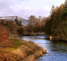 The River Tweed from Priorsford Bridge by Christine Smith