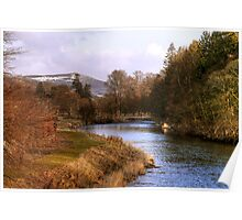 The River Tweed from Priorsford Bridge Poster
