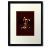 THIS IS MY BROOMSTICK Framed Print