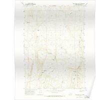 USGS Topo Map Oregon Kane Spring Gulch 280371 1967 24000 Poster