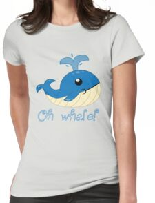 Oh Whale! Womens Fitted T-Shirt