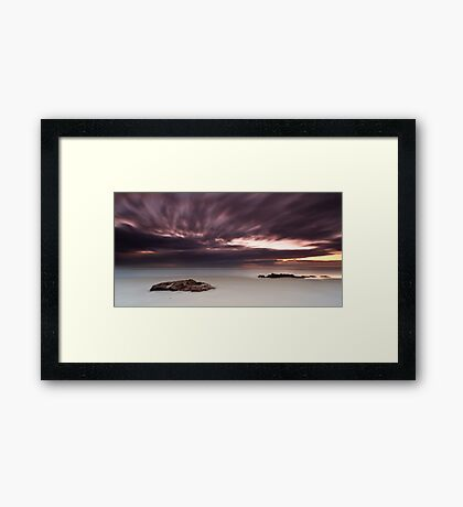The Raging Sea in the Sky Framed Print