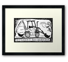 Backhoe Internet Framed Print