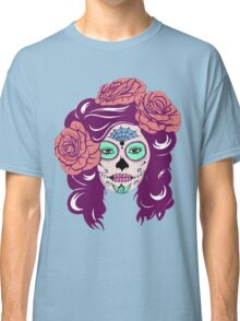 Colorful Sugar Skull Woman Classic T-Shirt