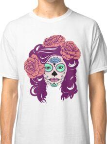Colorful Sugar Skull Woman Classic T-Shirt