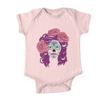 Colorful Sugar Skull Woman One Piece - Short Sleeve