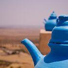 blue teapots  by emmawind