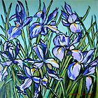 Irises© by Elizabeth Moore Golding