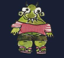 Funny Cartoon Monstar 001 Kids Tee