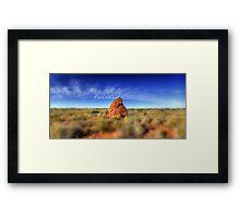 Outback landscape between Coral Bay & Exmouth , Western Australia Framed Print