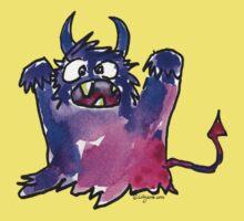 Funny Cartoon Monstar 002 Kids Tee