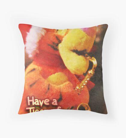 Christmas Card – Tiggerific Throw Pillow