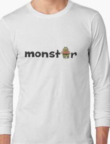 Monster Text Cartoon 001 Long Sleeve T-Shirt