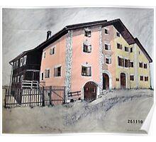 Guarda House Switzerland Poster