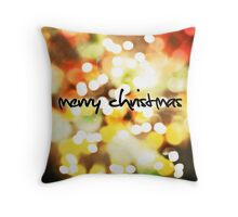 Christmas Card – Bokeh Lights Throw Pillow