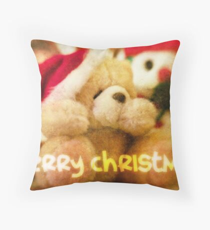 Christmas Card – Forever Friends Bear Throw Pillow