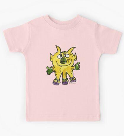 Funny Cartoon Monstar Monster 003 Kids Tee