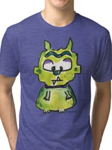 Funny Cartoon Monstar Monster 007 Tri-blend T-Shirt