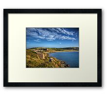 Braye and the Arsenal from Roselle - Alderrney Framed Print