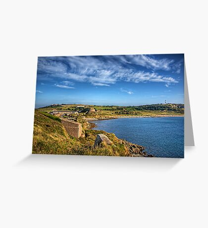 Braye and the Arsenal from Roselle - Alderrney Greeting Card