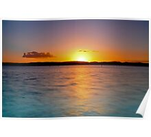Lake Macquarie Aglow Poster